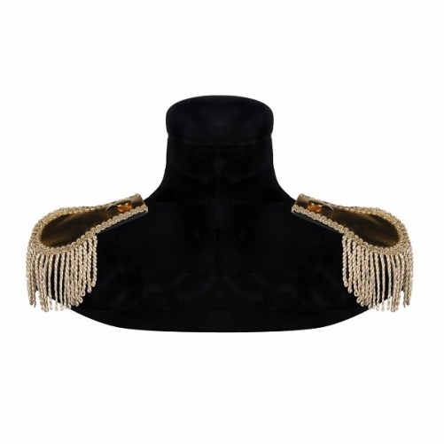 Epaulettes with lashes – gold-gold