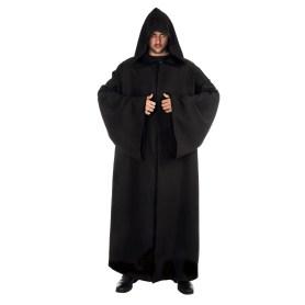 Black cloak/robe with hood 180 cm
