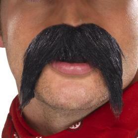Bushy moustache