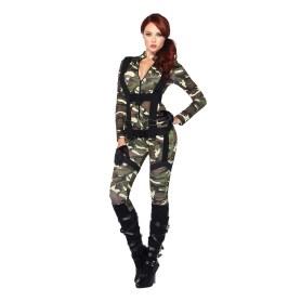 Camouflage parachutist catsuit