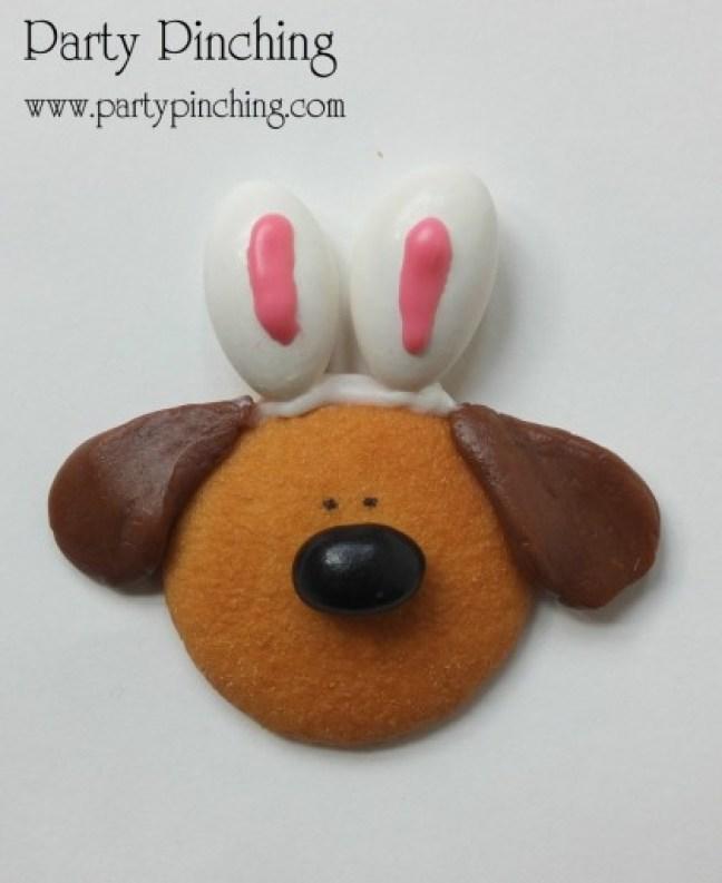 easter beagle cookie, easter dessert ideas, easter for kids, easy easter dessert, no bake easter cookie, cute easter bunny cookie, cute dog cookie, bunny ear cookie