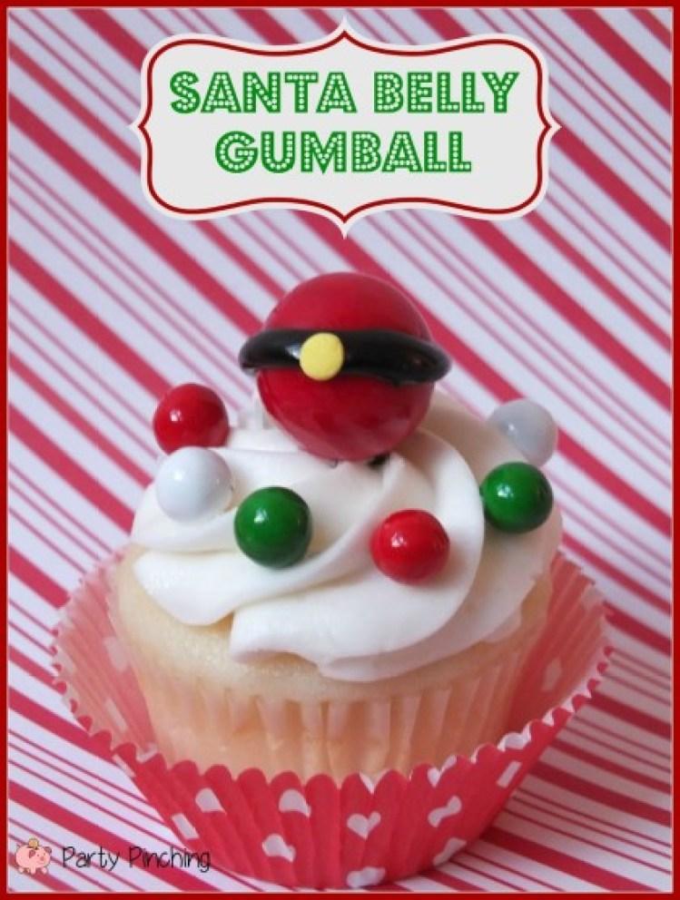 santa cupcake, santa dessert idea, sweetworks candy
