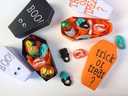 Halloween scatoline porta caramelle
