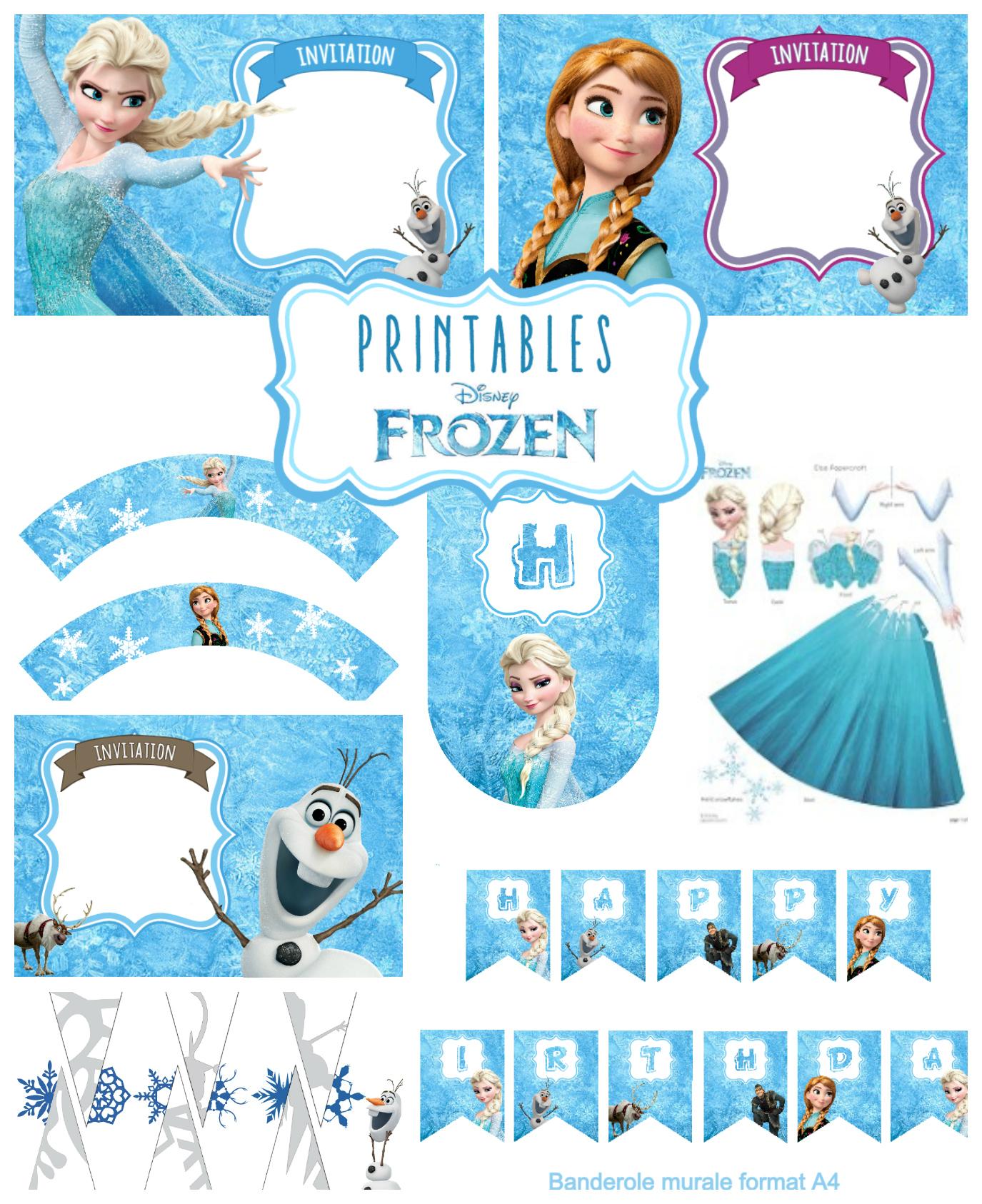 kit anniversaire la reine des neiges