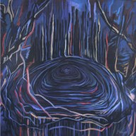 acrylic on canvas 120 x 120 cm, 2004