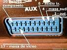 conectar pc a tv - foto de entrada SCART 1 o euroconector de TV