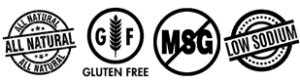 All Natural - Gluten Free - No MSG - Low Sodium