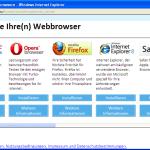 Browserwahl Auswahl