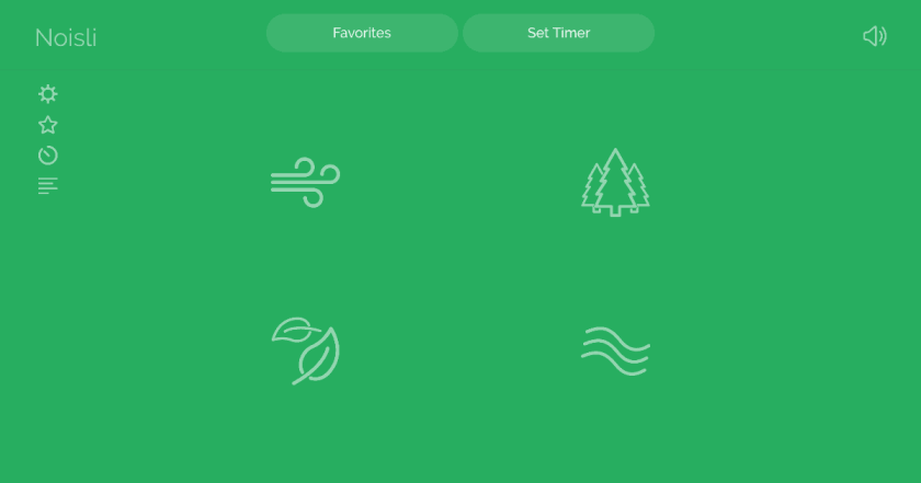 Noisli focus sons ambiance-concentration ambiant noisly