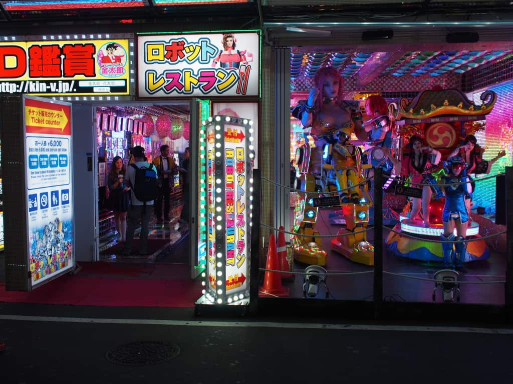 L'entrée du Robot Restaurant, quartier Shinjuku Tokyo