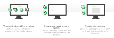 Nouvelle interface Evernote