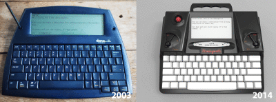 Dana Wireless, l'ancêtre du Hemingwrite Freewrite?