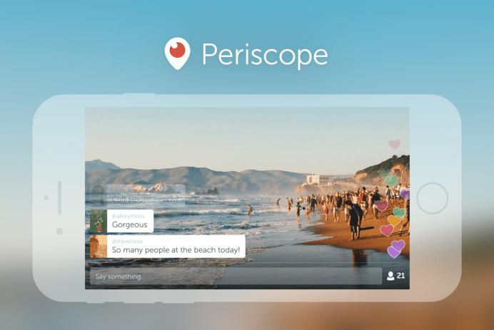 application périscope diffusion en direct web