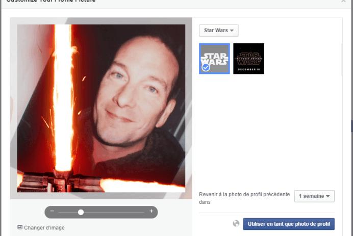 Star Wars dans Facebook