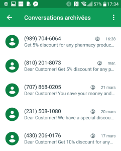 Spam Hangouts Dear Customer! Online Pharmacy