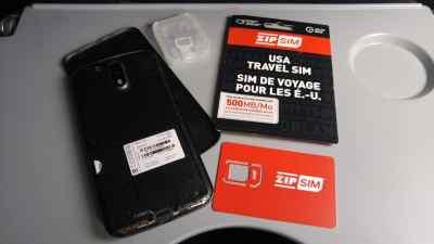 Zip SIM en voyage