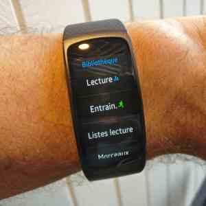 Lire la musique avec le Gear Fit2 de Samsung