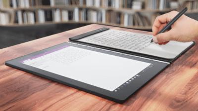 Yoga Book Lenovo prise de note manuscrite papier électronique