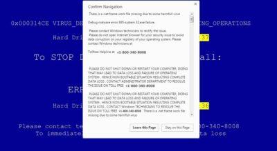 faux virus alerte appel Microsoft