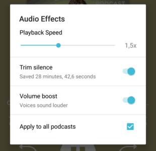 Changer la vitesse de lecture de ses podcasts baladodiffusions