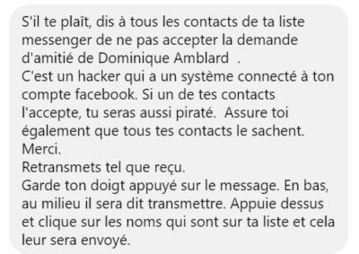 Dominique Amblard fausse alerte Facebook Camille Petit Jayden K. Smith Danse du pape