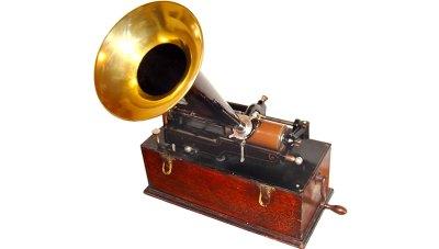 Phonographe gramophone rouleau cire