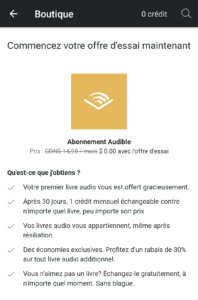 abonnement Audible Canada