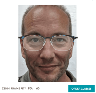 Essai virtuel lunette Zenni Optical