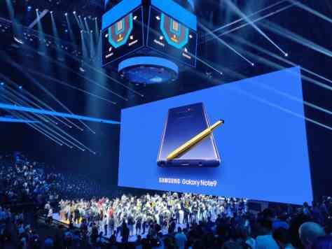 Samsung unpacked 2018 Note 9
