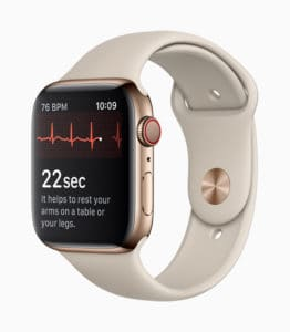 Apple Watch series 4 eeg électroencéphalogramme
