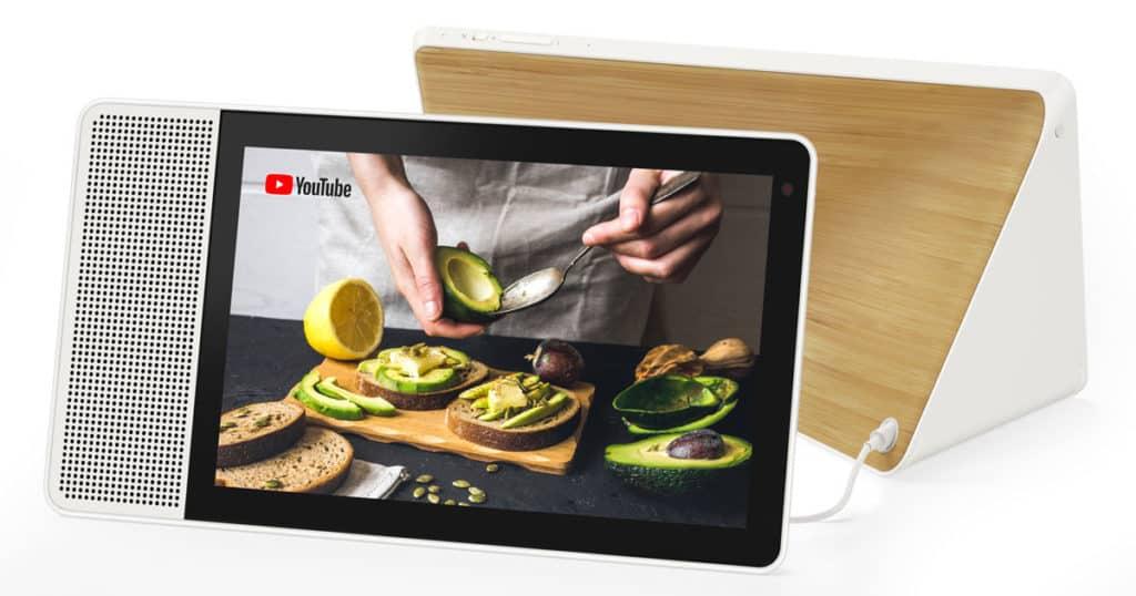 Lenovo Smart Display domotique Google Home assistant vocal Canada cuisson techno Nest Hub