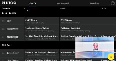 Pluto TV télé gratuite sur le web