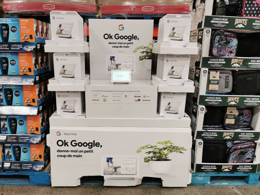 Nest Hub Google Costco donne moi un petit coup de main solde rabais bas prix
