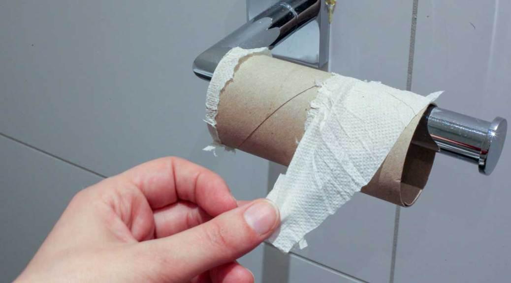 Peur de manquer de papier de toilette au bout du rouleau