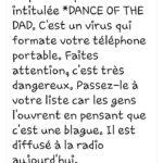 dance of the dad virus dangereux formate téléphone danse du pape faux virus
