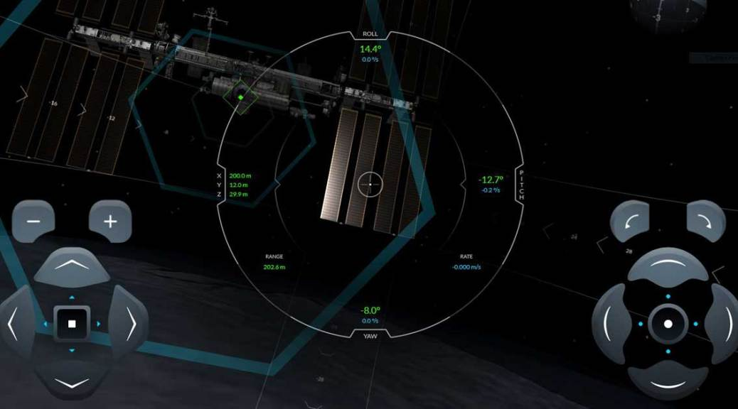 Simulateur amarrage SpaceX Station Spatiale Internationale
