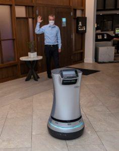 Marribot robot hôtelier Virginie Marriott Norfolk Waterside