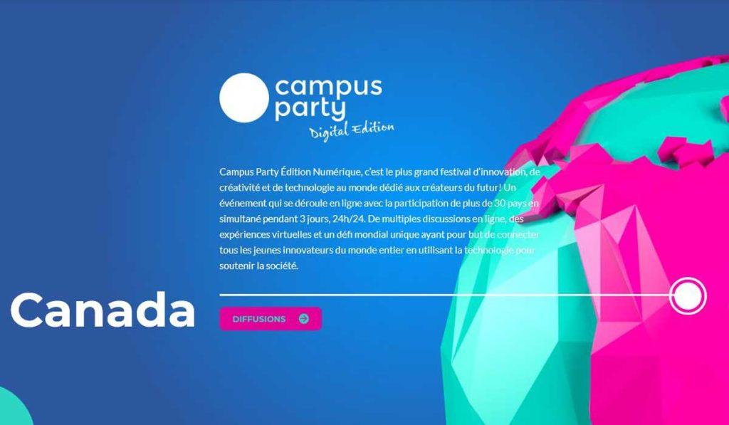 Campus Party digital edition Montréal Canada