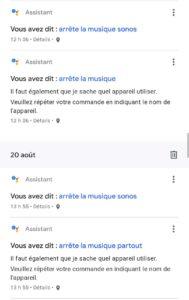 arrêter la musique Sonos améliorer l'assistant Google