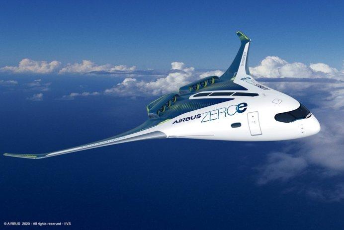 Airbus hydrogène avion zeroe blended body concept