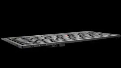 Les interrupteurs et les ports du clavier sans fil Bluetooth ThinkPad Trackpoint II de Lenovo