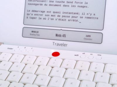 Freewrite traveler écran papier électronique