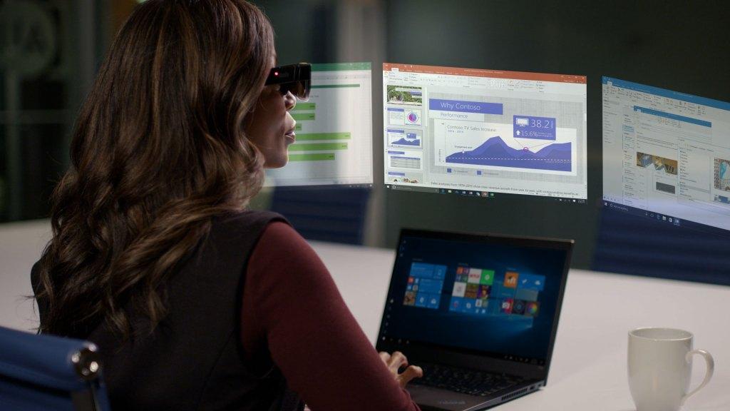 ThinkReality A3 Lenovo AR réalité augmentée écrans virtuels