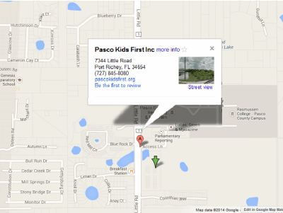 Google Map Image to Pacso Kids First, Click to get directions.