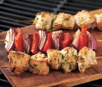 Garlic Lemon Chicken Kebabs