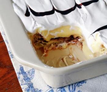 Cream Puff Chocolate Eclair Cake
