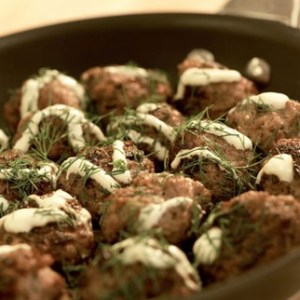 Scandinavian Pork Meatballs with Sour Cream & Dill