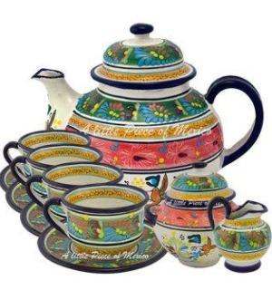 A Little Piece Of Mexico Rainforest Tea Set
