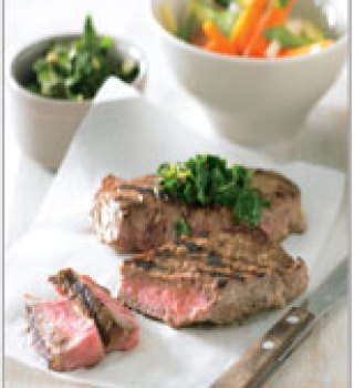 Scotch fillet steak with chimichurri