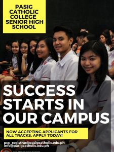 Application for Senior High School Starts Now!